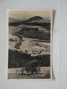 AK Blick von der Wasserkuppe zur Miseburg gelaufen 1942