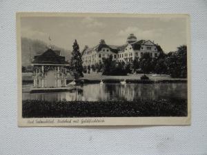 AK Bad Salzschlirf Badehof Goldfischteich Feldpost 1942
