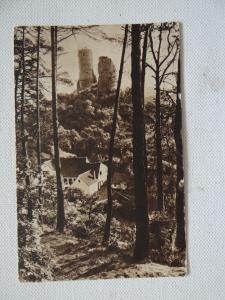 AK Burgruine Kirkel gelaufen 1935
