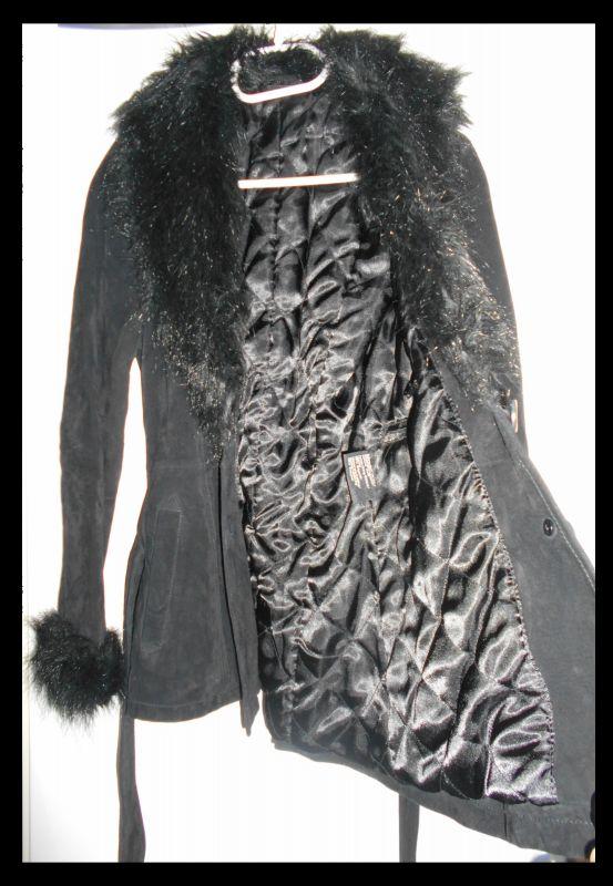 Echte Wildlederjacke /- Mantel und  wie neu!
