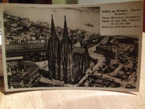 Alte AK Köln gelaufen, gestempelt mit Marke