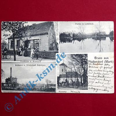 A Ansichtskarte Pfaffendorf Mark , Motiv: Kaufhaus Warnack, Schönian , 1911 gel