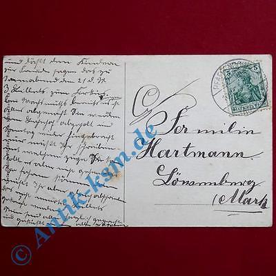 A Ansichtskarte Pfaffendorf Mark , Motiv: Kaufhaus Warnack, Schönian , 1911 gel 1