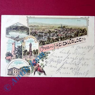 Postkarte Ansichtskarte Freienwalde , Kurhaus, See, Totale , gel. 1898 , selten 0