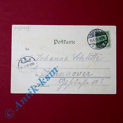 Postkarte Ansichtskarte Freienwalde , Kurhaus, See, Totale , gel. 1898 , selten 1
