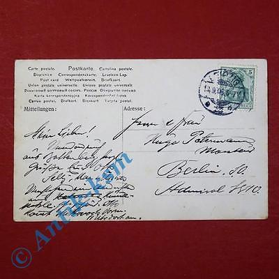 Postkarte Ansichtskarte Berlin , Restaurant Otto Herrmann Hundekehle , gel. 1906 1