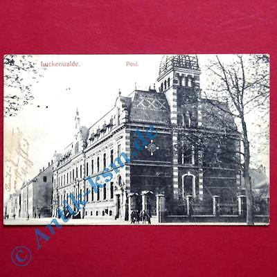 A  Postkarte Ansichtskarte Luckenwalde, Motiv: Die Post, gelaufen 1909 0