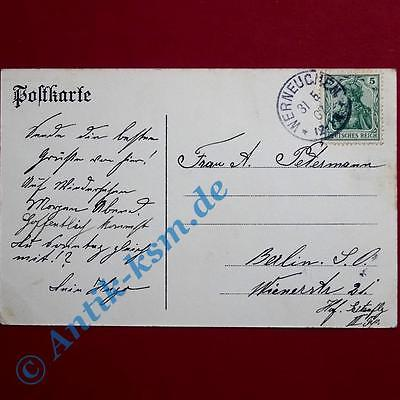 A Ansichtskarte Hirschfelde Mark , Motiv Schloss, Kaufhaus Sandow  1907 gelaufen 1