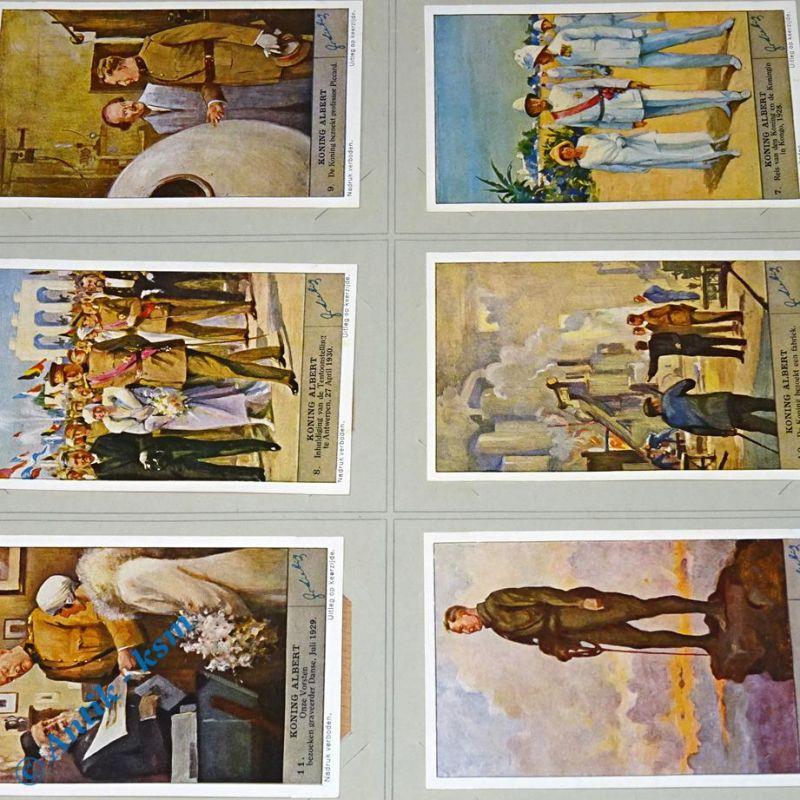 6 Liebig Chromos Bilder, S1342 , Koning Albert , Nr 7 bis 12 , kfr