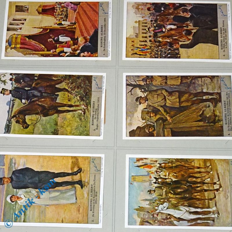 6 Liebig Chromos Bilder, S1342 , Koning Albert , Nr 1 bis 6 , kfr
