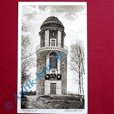 A  Postkarte Ansichtskarte Hamburg Harburg , Motiv: Bismarckturm. gelaufen 1917 0