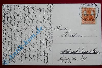 A  Postkarte Ansichtskarte Hamburg Harburg , Motiv: Bismarckturm. gelaufen 1917 1