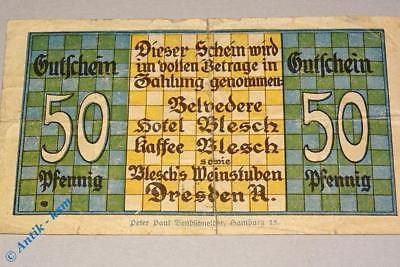 Notgeld Dresden , Schulfest Arbeitsschule , 50 Pfennig , M/G 291A.1 -seltener-