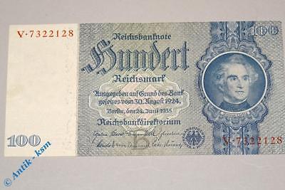 Reichsbanknote über 100 Mark, Rosenberg 176 b , Liebig , Banknote von 1935