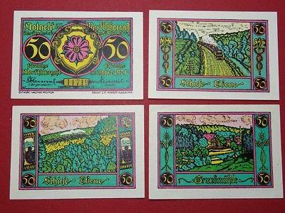 4 x Notgeld Marktschorgast, Mehl Grabowski 871.3 komplett , von 1921 , kfr / unc