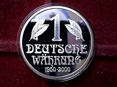 Medaille 50. Jahrestag 1 Deutsche Währung Münze 1950-2000 Ø 35 mm in PP
