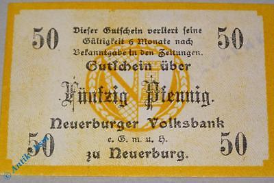 Notgeld Neuerburg , Volksbank , 50 Pfennig Schein , Tieste 4850.05.11 , kfr/unc