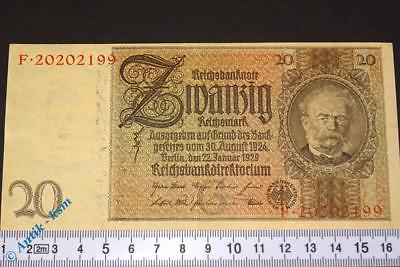 Reichsbanknote über 20 Mark  --> G / F <--  Ros. 174a , von 1929 , fast kfr