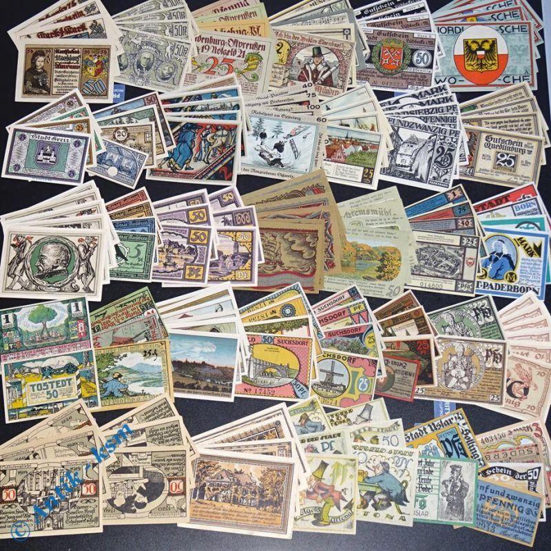 Super Notgeld Lot , über 140 Scheine , 32 Serien , german emergency money , kfr