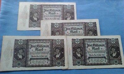 Banknote deutsches Reich : 2 Millionen Mark vom 23.07.1923