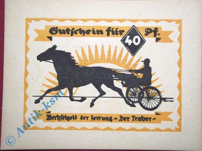 Notgeld Hamburg , 3 Türme Verlag , 40 Pfennig Schein , Mehl Grabowski 524.1 C ,