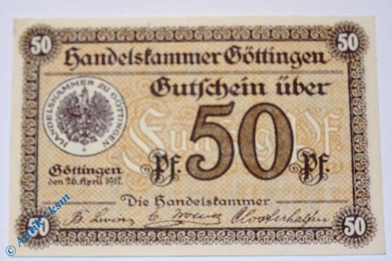 Notgeld Göttingen , 50 Pfennig , Musterschein o. Kennummer  2320.10.02.M kfr/unc