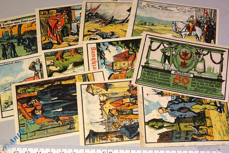 12 x Notgeld Halle , Saale , Notgeldausstellung , emergency money , M/G 507.1 b