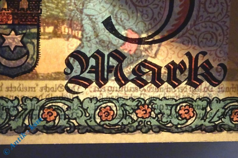 Notgeld Oelde ,5 Mark ohne Wasserzeichen , german emergency money M/G 1007.3 kfr