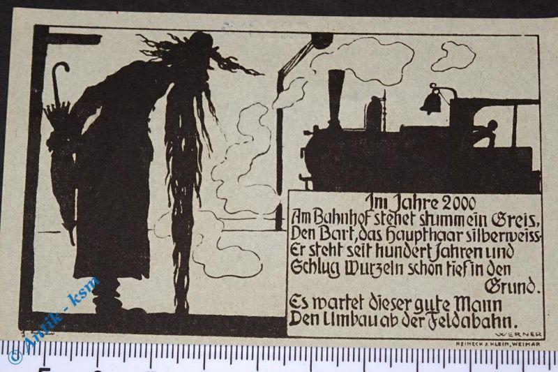 Notgeld Dermbach , Röhnklubzweigverein , 75 Pfennig Schein Nr 4 , M/G 265.1 ,kfr