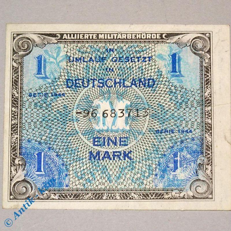 1 Mark Schein , alliierte Militärbehörde , Ros 201 d , UDSSR-Druck ,  Ersatznote