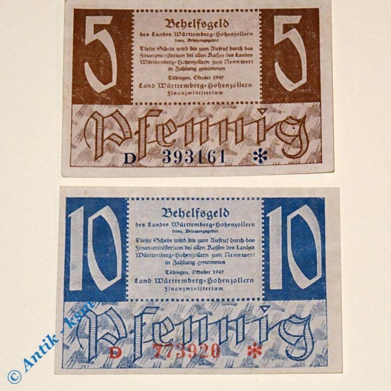 2 x Württemberg Hohenzollern Finanzministerium , Rosenberg 214 und 215 , TOP