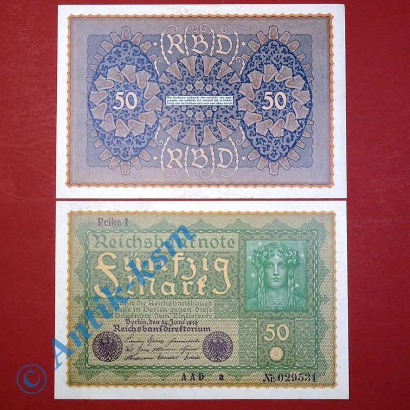 1 x Banknote über 50 Mark / Reichsmark,