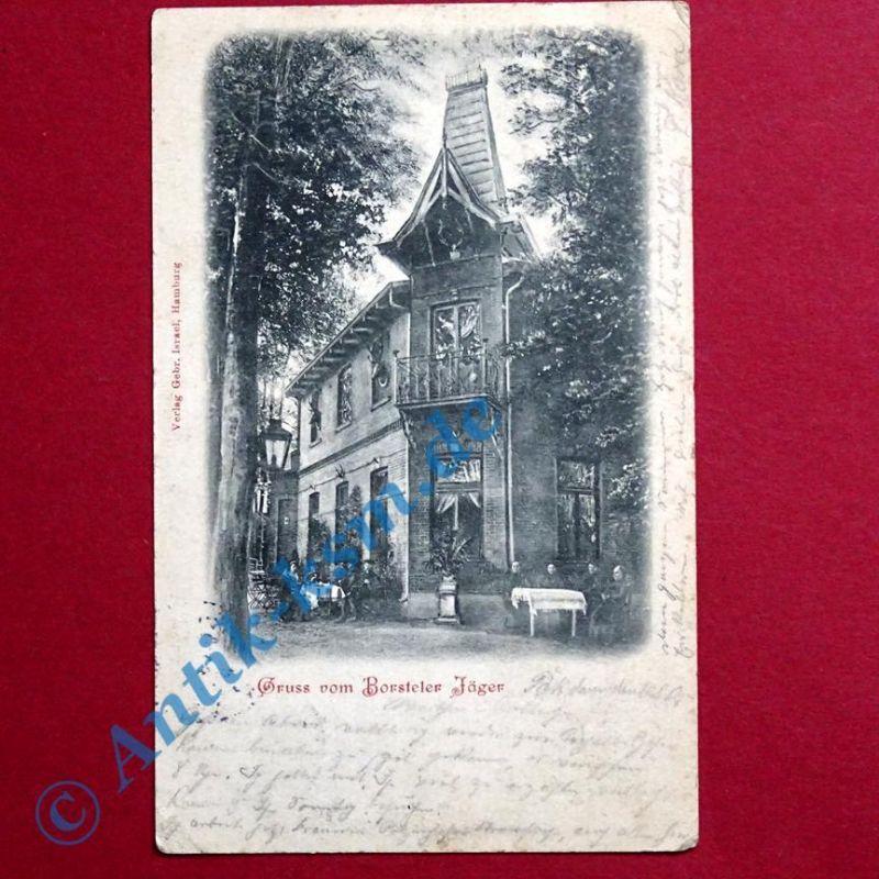 A   Ansichtskarte Hamburg , Motiv: Borsteler Jäger, 1905 gelaufen --selten-- 0