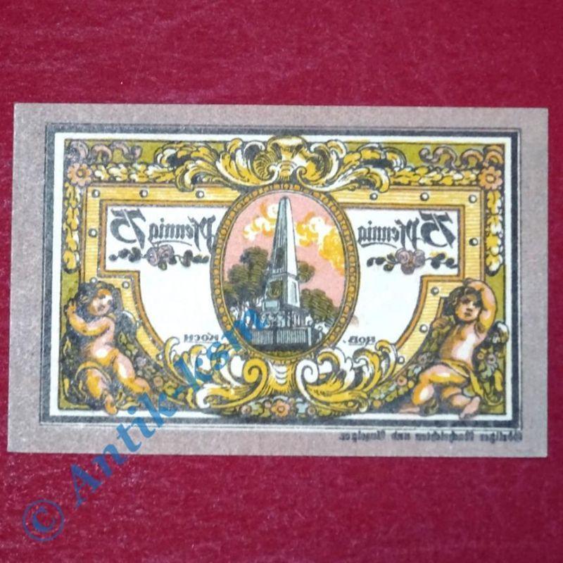 Notgeld Rheinsberg , Schein über 75 Pfennig spiegelverkehrt  M/G 1120.1  kfr/unc