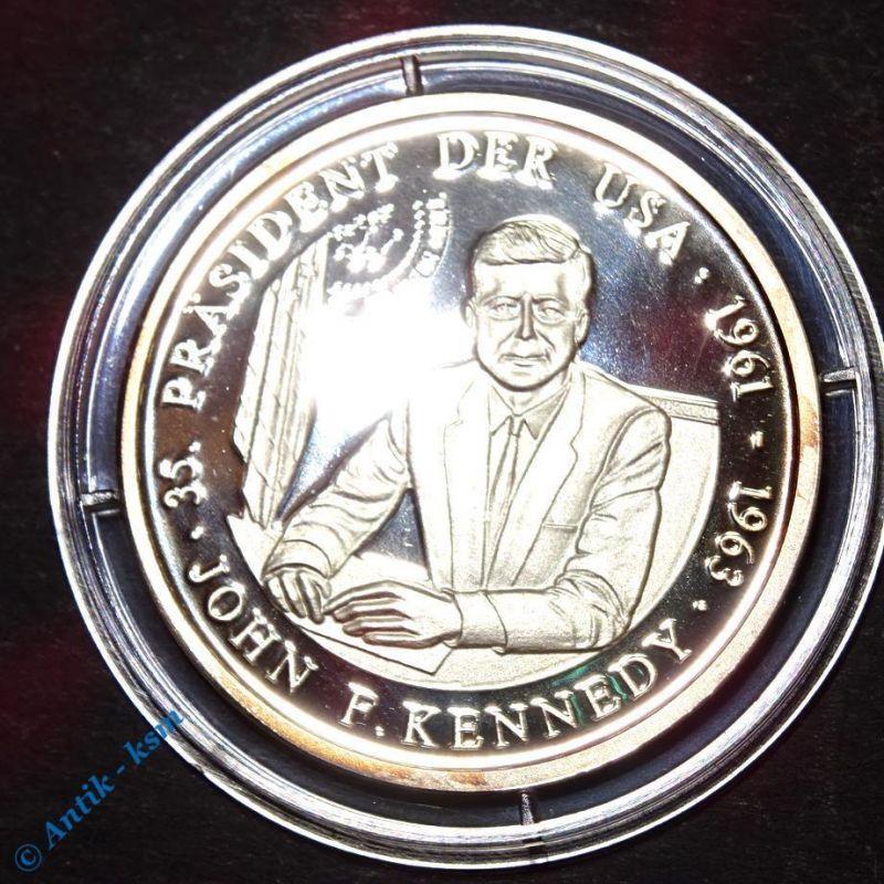 Feinsilber 999 Münze , Medaille , John F Kennedy , Präsident der USA , 30 mm pp