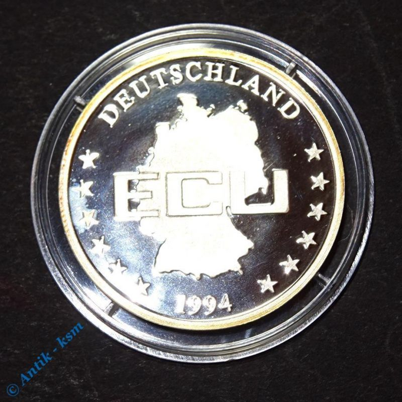 Feinsilber 999 Münze , Medaille , ECU , Deutschland , Europa 1994 , 30 mm , PP