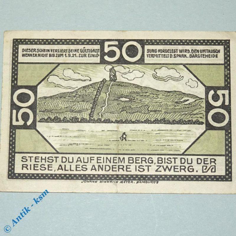 Notgeld Bargteheide , Gauturnfest , M/G 63.1 a , von 1921 , german Notgeld