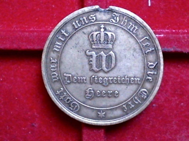 A   Medaille : Dem siegreichen HEERE , von 1870 - 1871