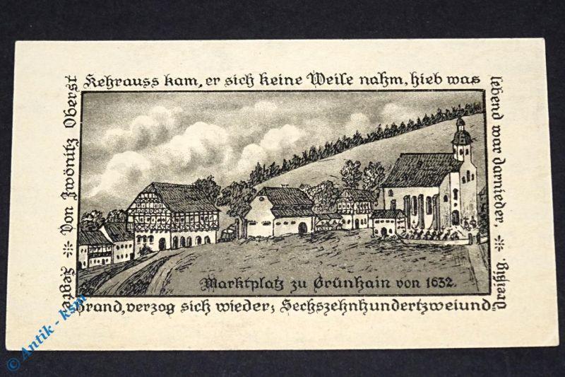 Top Notgeld Grünhain , 2 Mark Schein , Mehl Grabowski 491.1 von 1917 , kfr / unc