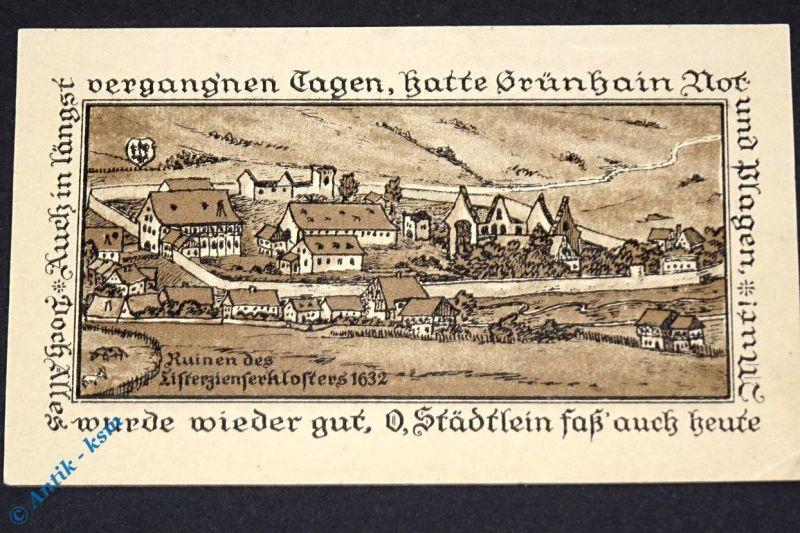 Top Notgeld Grünhain , 5 Mark Schein , Mehl Grabowski 491.1 von 1917 , kfr / unc