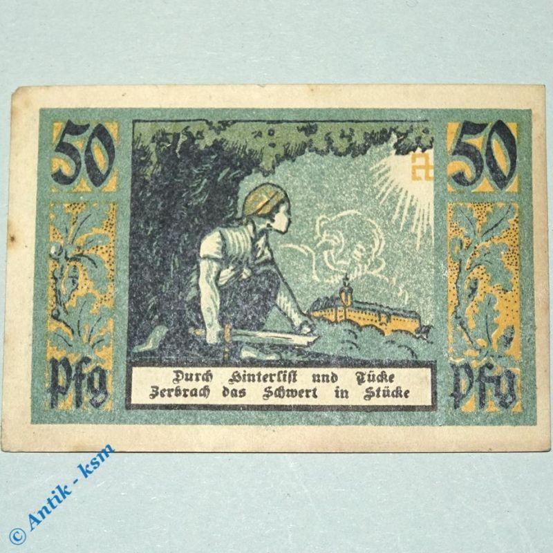 Notgeld Rudolstadt , Schutz und Trutzbund , M/G 1145.1 , Schein 1 german Notgeld
