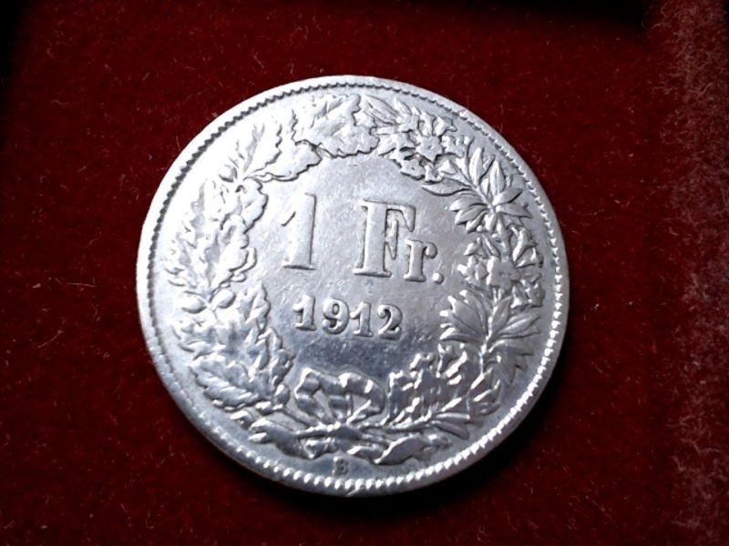 Top Münze Schweiz : 1 Franken von 1912 -- Erhaltung --