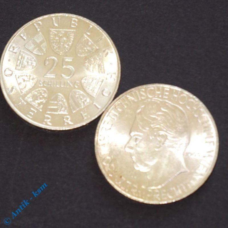 2 x Silbermünze Österreich , Hochschule Wien und Grillparzer , tolle Erhaltung