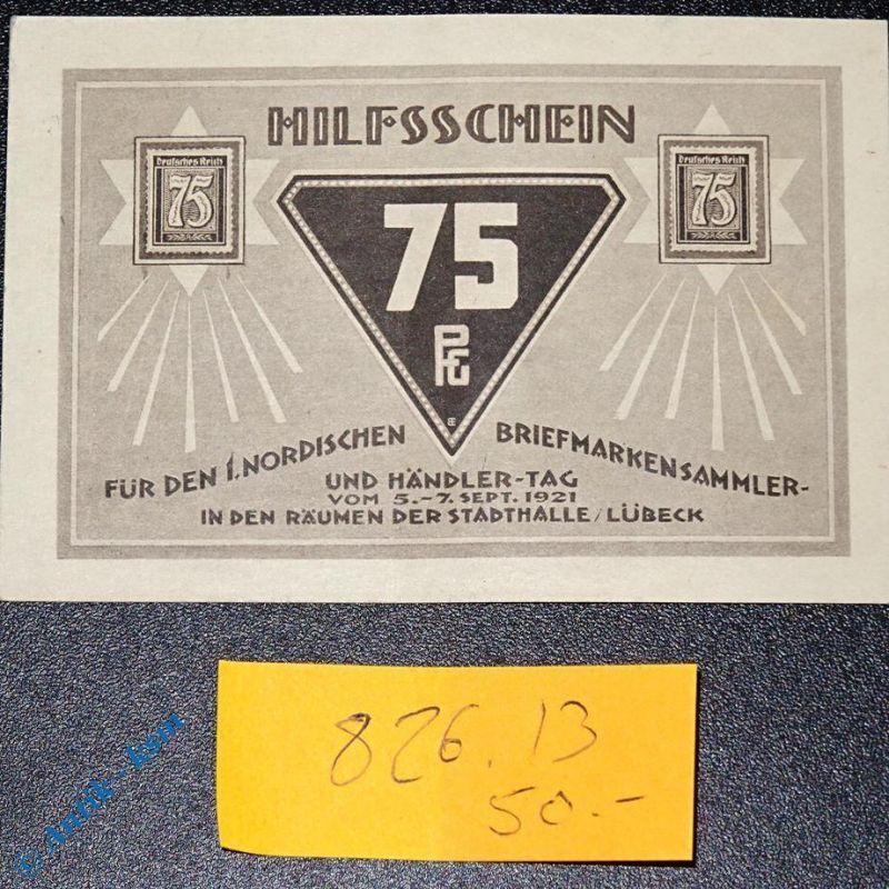 Notgeld Lübeck , nordischer Briefmarkensammler & Händlertag , M/G 826.13 , kfr