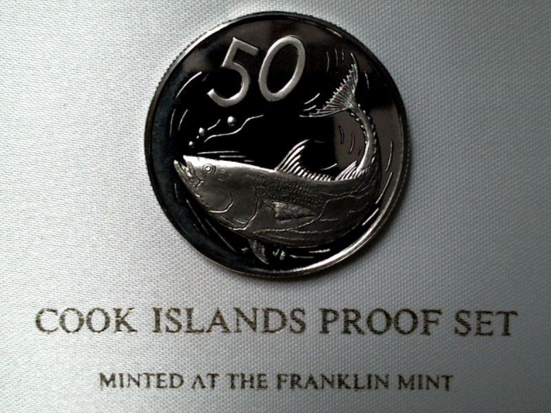 Top Münze PP : COOK ISLANDS - 50 Cent von 1976 in stgl. / PP / proof