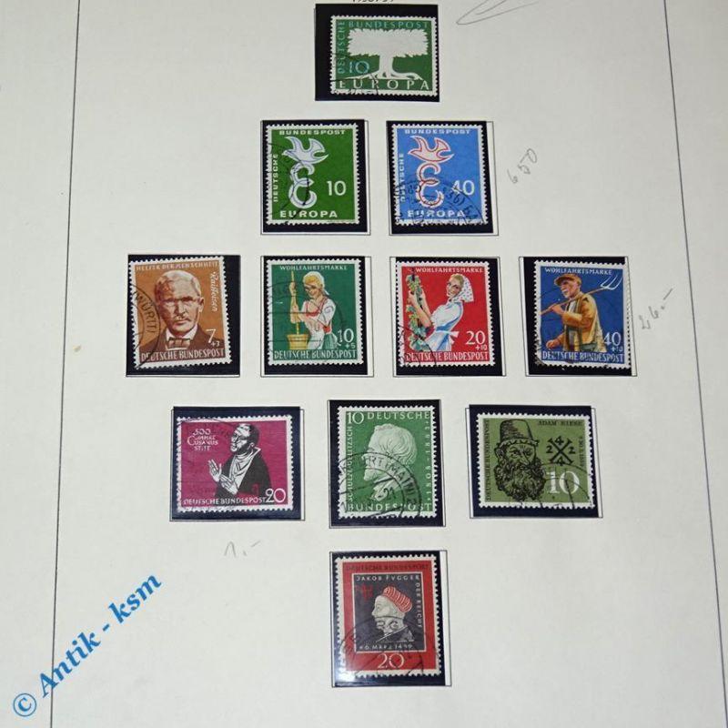 11 Briefmarken 1958/59 , Deutschland , Mi. ?, 10 Pfennig bis 50 Pfennig , Bilder