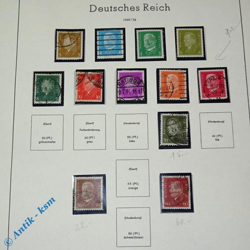 12 Briefmarken deutsches Reich 1928 bis 1932 , 3 Pfennig bis 60 Pfennig , Bilder