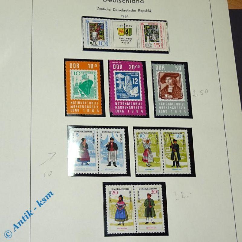 16 Briefmarken DDR 1964 Mi.-Nr. ? ,10 Pfennig bis 50 Pfennig , s. Detailbilder