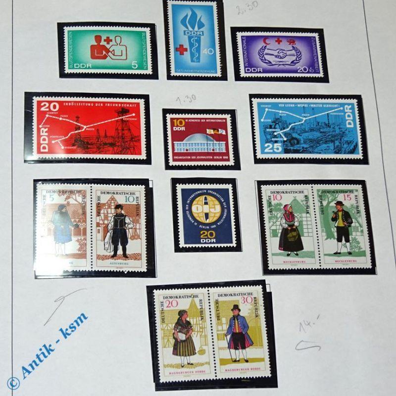 13 Briefmarken DDR 1966 Mi.-Nr. ? , 5 Pfennig bis 40 Pfennig , siehe Detailbilde
