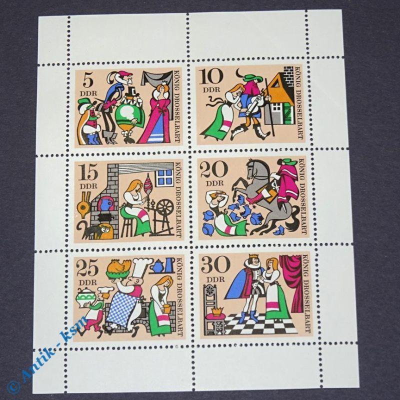 Briefmarken Block DDR 1967 Mi.Nr ? 5 Pfennig bis 30 Pfennig , siehe Bilder